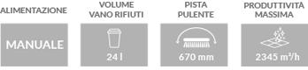 Caratteristiche principali spazzatrice industriale